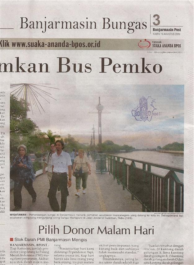 PORTADA del diari BANJARMASIN BUNGAS