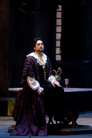 "Giuseppe Filianoti as the Duke in Verdi's ""Rigoletto.""Photo: Marty Sohl/Metropolitan OperaTaken at the performance on April 27, 2011 at the Metropolitan Opera in New York City."