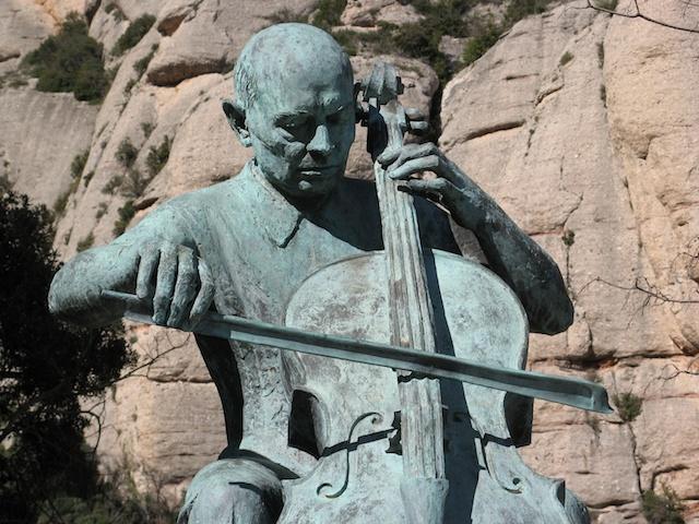 Pau Casals - estatua centenari