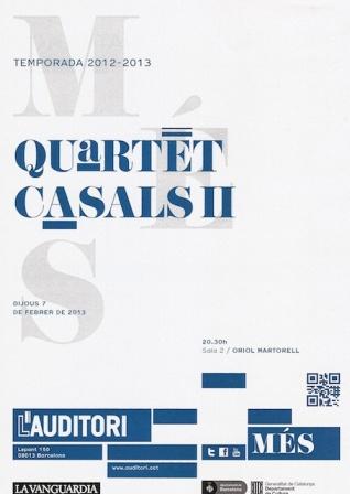 Quartet Casals 123