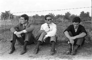 Bernardo Bertolucci i Pier Paolo Pasolini durant el rodatge de Accattone