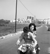 Ettore Garofolo i Anna Magnani durant el rodatge de Mamma Roma