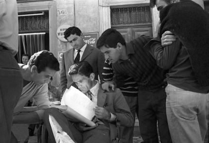 Pier Paolo Pasolini durant el rodatge de Accattone