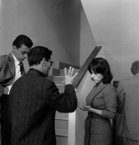 Pier Paolo Pasolini i Anna Magnani durant el rodatge de Mamma Roma 2