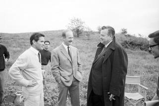 Pier Paolo Pasolini i Orson Welles durant el rodatge de La Ricotta