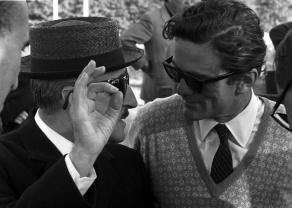 Totò i Pier Paolo Pasolini durant el rodatge d'Uccellacci e uccellini