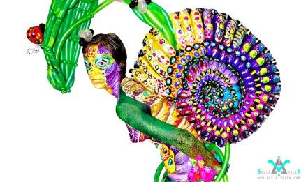 Body art Paintloon Snail