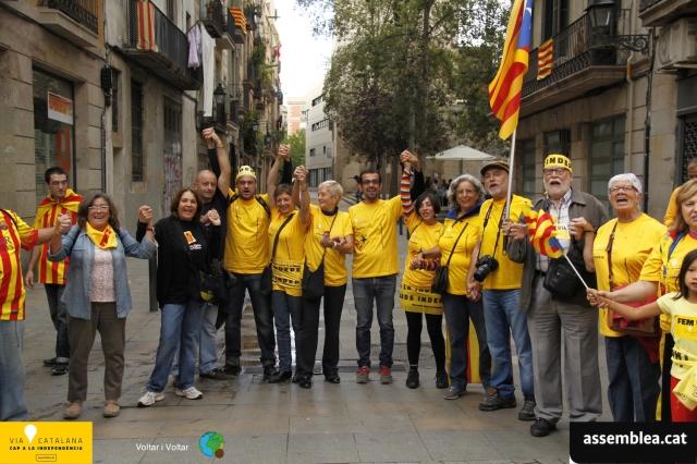 La nostra gigafoto al tram 738 de Via Catalana - 11:09:2013 - Voltar i Voltar