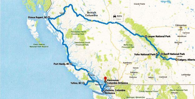 Maoa viatge Canadà  - 2ona i 3ers parts - Rocalloses i Costa del Pacific