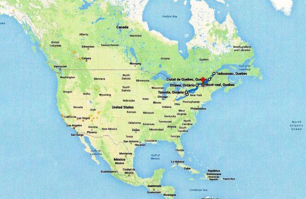 Mapa Canada 1