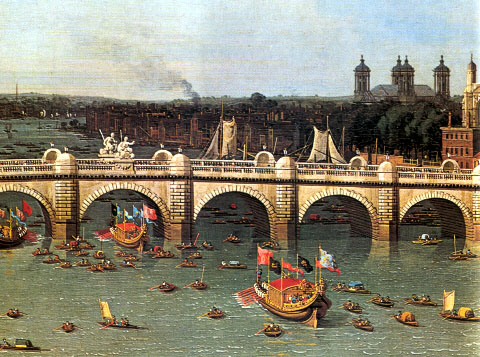 Canaletto,_Westminster_Bridge_from_the_North_on_Lord_Mayor's_Day,_1746-47,_detail