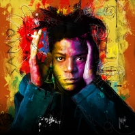 1986, New York, New York, USA --- Jean-Michel Basquiat --- Image by © William Coupon/CORBIS