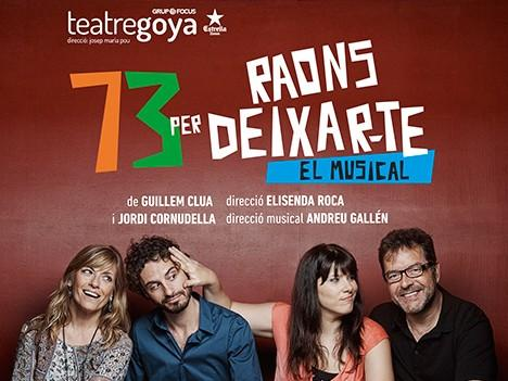 73 RAONS PER DEIXAR-TE - Teatre Goya