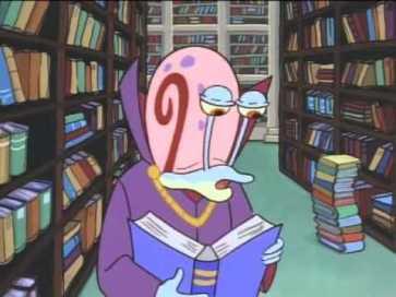 Cargol a una biblioteca