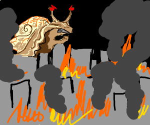 Ciutat cremada i cargol