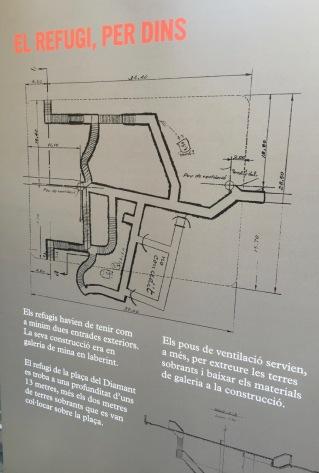 Refugi antiaeri Plaça del Diamant - 1