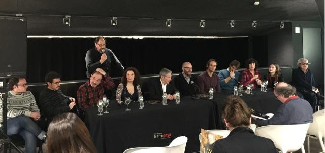 roda de premsa de L'AVAR - Teatre Goya - 2