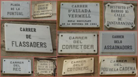 Els noms dels carrers de Barcelona