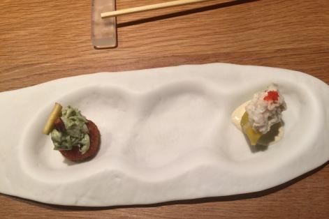 """El ceviche de corbina amb """"leche de tigre"""" de kimchi"""