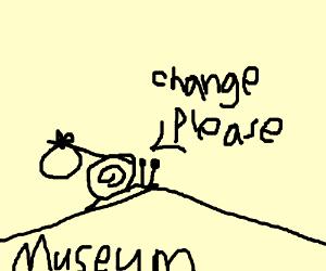 El Cargol fuig del Museu