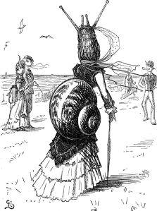 Vestit de dona cargol