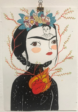 FRIDA KAHLO. Una biografia, de María Hesse - Sala Fènix - il.lustracions de Maria Hesse - - 4
